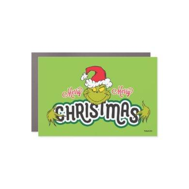 Classic The Grinch | Merry Merry Christmas Car Magnet