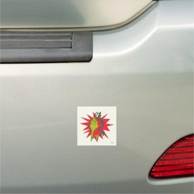 Classic The Grinch | Red Starburst Car Magnet