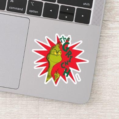 Classic The Grinch | Red Starburst Sticker