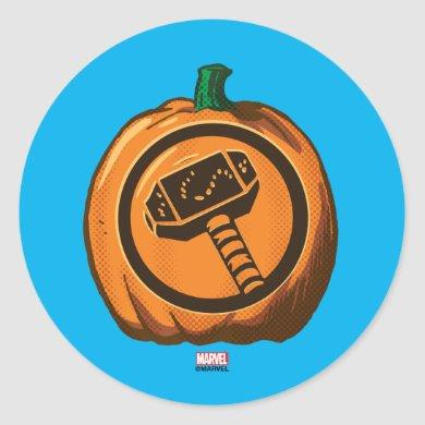 Classic Thor Logo Jack-o-lantern Classic Round Sticker