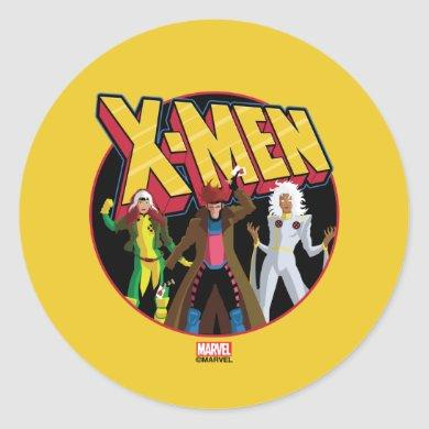 Classic X-Men | Rogue, Gambit, & Storm Icon Classic Round Sticker