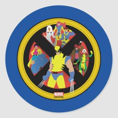 Classic X-Men | Simplified Character Art In Icon Classic Round Sticker