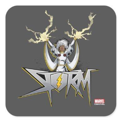 Classic X-Men | Storm Lightning Name Badge Square Sticker