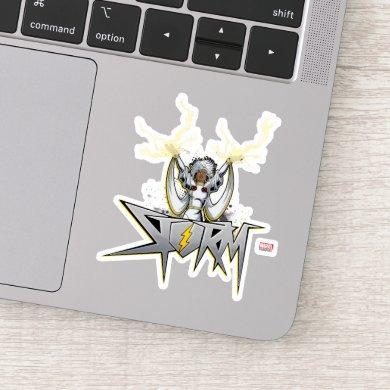 Classic X-Men | Storm Lightning Name Badge Sticker