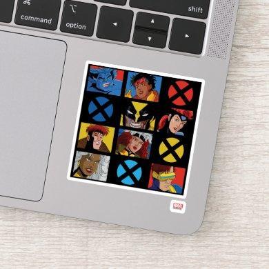 Classic X-Men | X-Men Hero Character Grid Sticker