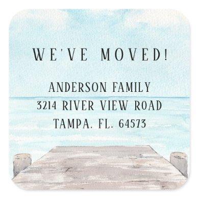Coastal New Home Address Label Sticker