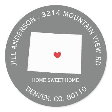 COLORADO State    New Address Label Sticker