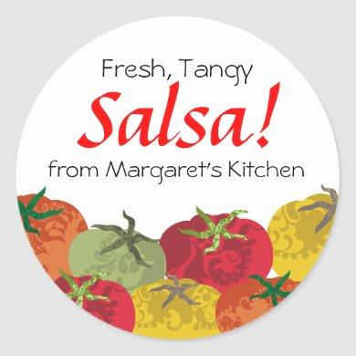 colorful tomatoes from my kitchen gift tag sticker