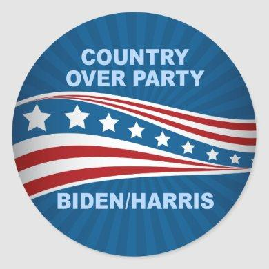 Country Over Party Biden Harris Classic Round Sticker