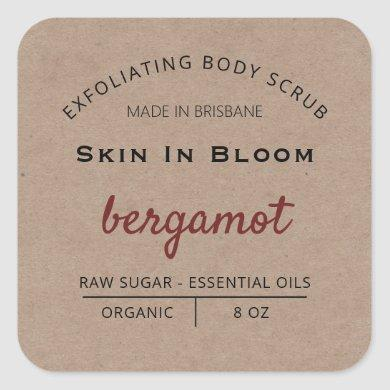 Country Vintage Body Scrub Product Labels