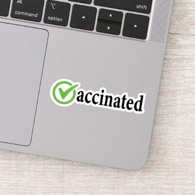 Covid Vaccinated, Covid vaccine , Vaccinated Sticker