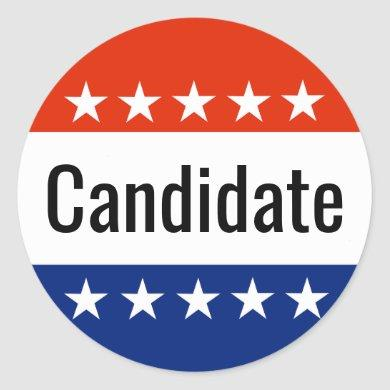 Custom Candidate Campaign 2022 Election Classic Round Sticker
