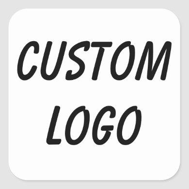Custom Logo Square Sticker