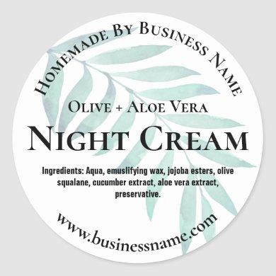 Customizable Night Cream Label