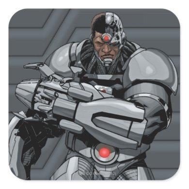 Cyborg Square Sticker