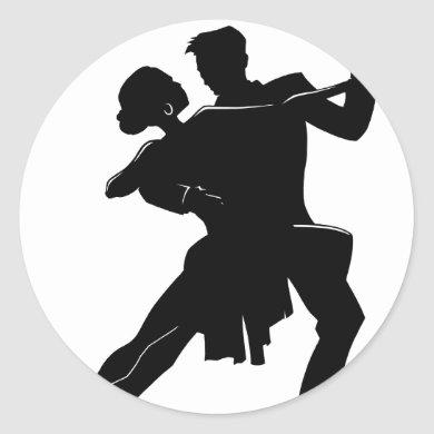 Dance Classic Round Sticker