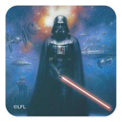 Darth Vader Imperial Forces Illustration Square Sticker