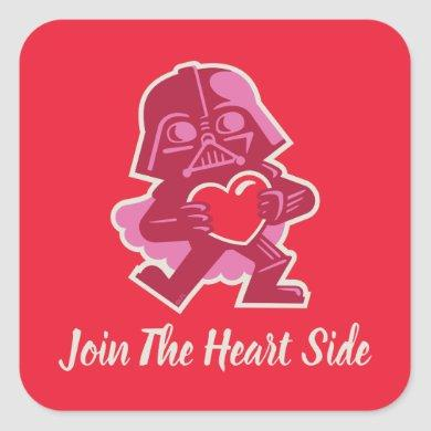 Darth Vader - Join The Heart Side Square Sticker