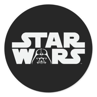 Darth Vader Star Wars Logo Classic Round Sticker
