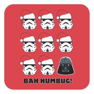 "Darth Vader & Stormtrooper ""Bah Humbug!"" Square Sticker"