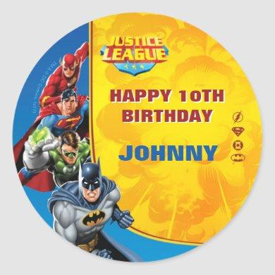 DC Comics | Justice League - Birthday Classic Round Sticker