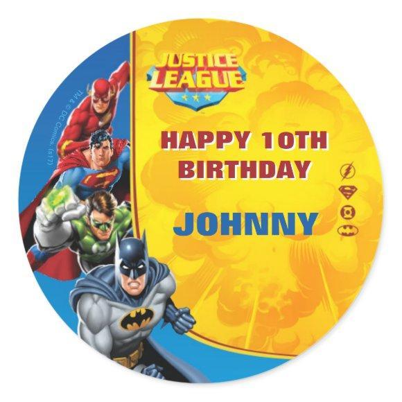 DC Comics   Justice League - Birthday Classic Round Sticker