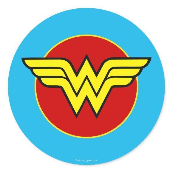 DC Comics | Wonder Woman Logo | Happy Birthday Classic Round Sticker