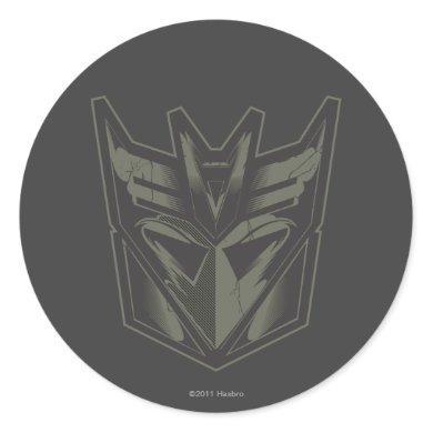 Decepticon Cracked Symbol Classic Round Sticker