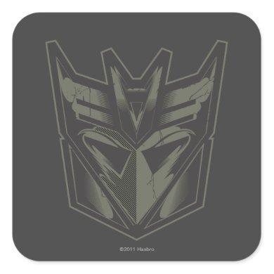 Decepticon Cracked Symbol Square Sticker