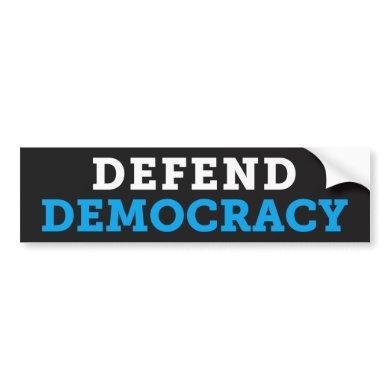 Defend Democracy Dark Bumper Sticker