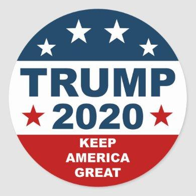 Donal Trump 2020 Keep America Great Classic Round Sticker