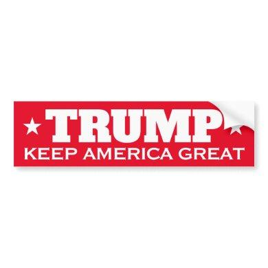 Donald Trump 2020 election Keep America Great red Bumper Sticker