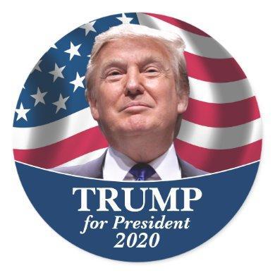Donald Trump Photo - President 2020 Classic Round Sticker