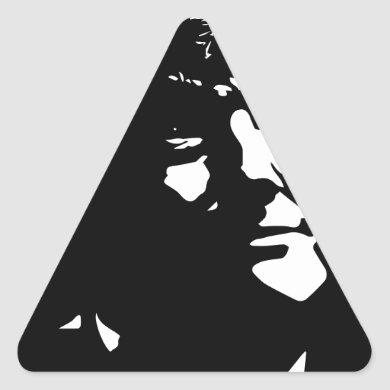 Donald Trump Silhouette Trumphead Triangle Sticker