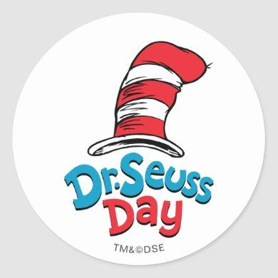 Dr. Seuss Day Classic Round Sticker