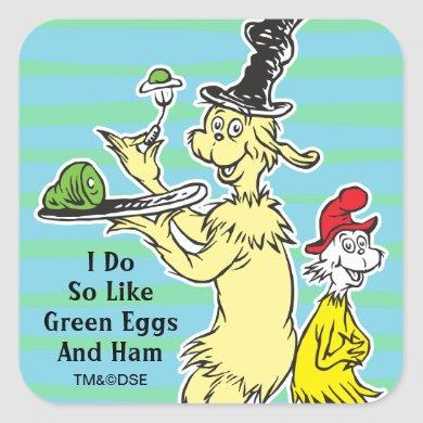 Dr. Seuss | Green Eggs and Ham | Friend & Sam-I-Am Square Sticker