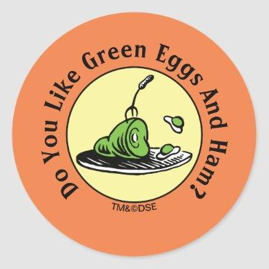 Dr. Seuss | Green Eggs and Ham Icon Classic Round Sticker