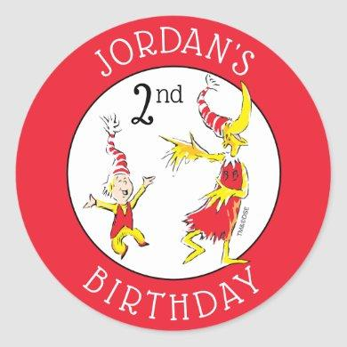 Dr. Seuss | Happy Birthday to You Classic Round Sticker