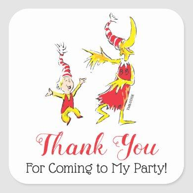 Dr. Seuss | Happy Birthday to You - Thank You Square Sticker