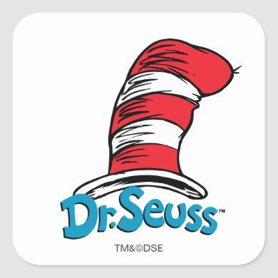 Dr. Seuss Hat Logo Square Sticker