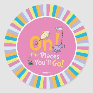 Dr. Seuss | Oh, The Places You'll Go! Classic Round Sticker
