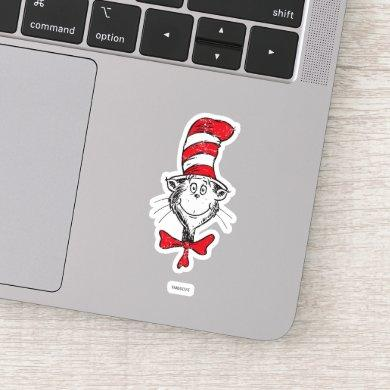 Dr. Seuss | The Cat in the Hat Head - Vintage Sticker
