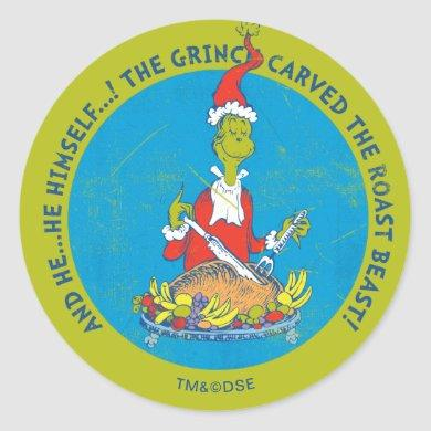 Dr. Seuss | The Grinch | Christmas Roast Beast Classic Round Sticker