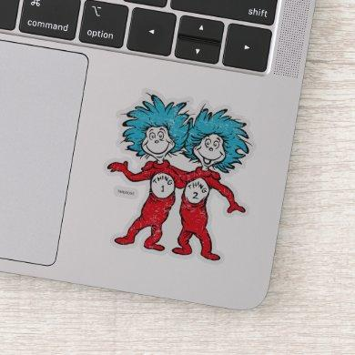 Dr. Seuss | Thing 1, Thing 2 Sitting Sticker