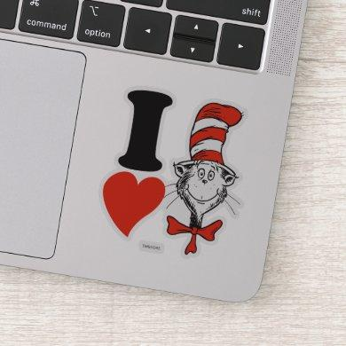 Dr. Seuss Valentine | I Heart The Cat in the Hat Sticker