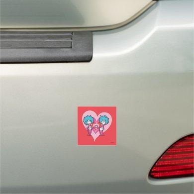 Dr. Seuss Valentine | Thing 1 Thing 2 Car Magnet