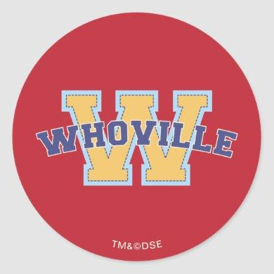 Dr. Seuss | Who-ville Athletic Logo Classic Round Sticker