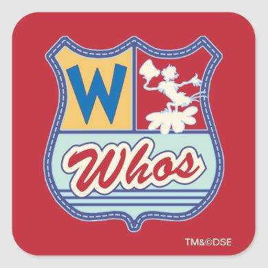 Dr. Seuss | Who-ville - Whos Crest Square Sticker