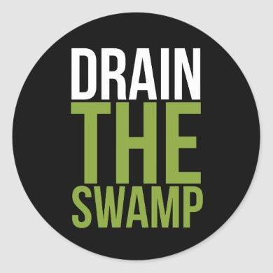Drain the swamp Make America Great Again MAGA Classic Round Sticker