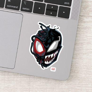 Dual Spider-Man Miles Morales & Venom Head Sticker